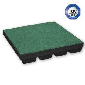 Fallschutzmatten - 50x50cm - 55mm - Grün - Spielplatz-Fallschutz mit TÜV in Kita und Schule
