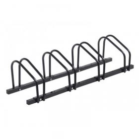 Fahrradständer - Stahl - Schwarz - 4 Fahrräder - Stand-Alone oder Mauer-/Bodenmontage
