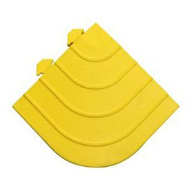 Modulare Werkstattmatte - Anti-Ermüdungsmatte - Gelbes Eckstück