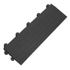 Modul für Werkstattmatte - Anti-Ermüdungsmatte - Schwarzes Seitenteil mit Puzzle-Noppen
