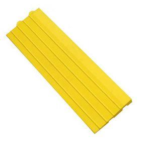 Modul für Werkstattmatte - Anti-Ermüdungsmatte - Gelbes Seitenteil mit Puzzle-Einkerbungen