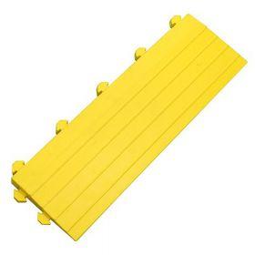 Modul für Werkstattmatte - Anti-Ermüdungsmatte - Gelbes Seitenteil mit Puzzle-Noppen