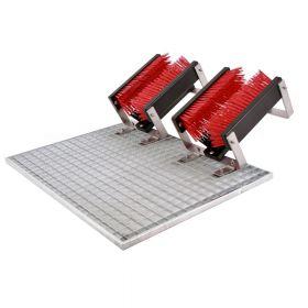 FloorMAX® Classic professioneller Schuhreiniger / Stiefelbürste mit Gitter - zweifach