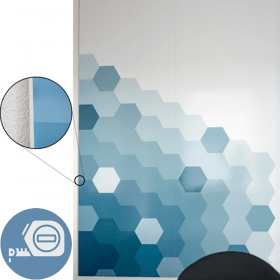 """Whiteboard """"Chameleon"""" - ohne Rahmen - auf Maß - individuell bedruckt"""