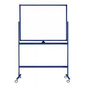 "Fahrbares Whiteboard ""Color"" - Blau - 100 x 150 cm - Doppelseitig & magnetisch"