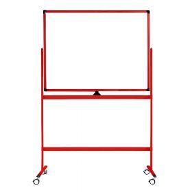 """Fahrbares Whiteboard """"Color"""" - Rot - 100 x 150 cm - Doppelseitig & magnetisch"""