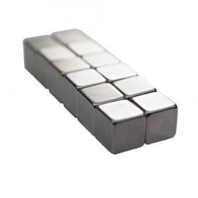 Glassboard Magneten - Würfel - silber - 12 Stück