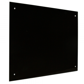 Glas Magnettafel – 90x120 cm – magnetisch - Schwarz