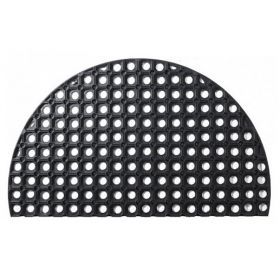 Halbrunde, rutschfeste Gummi-Ringmatte in 45x75cm