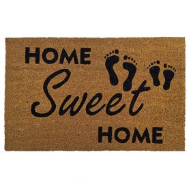 """Kokos-Fußmatte - """"Home Sweet Home"""" - 50 x 80 cm - Rutschfest, staubfrei & effektiver Schmutzabrieb"""