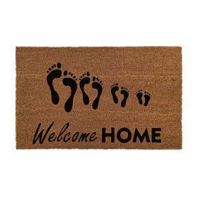 """Kokos-Fußmatte - """"Welcome Home"""" - 40 x 60 cm - Rutschfest, staubfrei & effektiver Schmutzabrieb"""