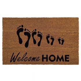 """Kokos-Fußmatte - """"Welcome Home"""" - 50 x 80 cm - Rutschfest, staubfrei & effektiver Schmutzabrieb"""