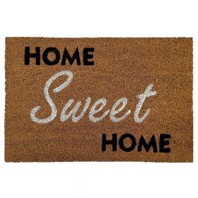 """Kokos-Fußmatte - """"Home Sweet Home 2"""" - 50 x 80 cm - Rutschfest, staubfrei & effektiver Schmutzabrieb"""