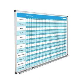 Jahresplaner - 365 Tage / 12 Monate - 90 x 120 cm - Jahres-Planboard als ewiger Kalender