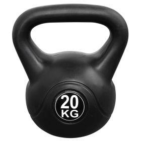 Fitness-Gewicht - 20kg - Schwarz - Kunststoff-Glockenhantel - Kettle Bell