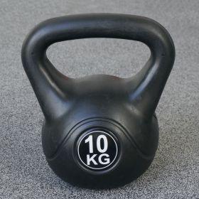 Fitness-Gewicht - 10kg - Schwarz - Kunststoff-Training-Glockengewicht für Hantel-Außenbereich