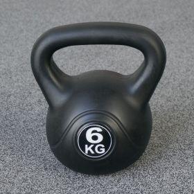 Fitness-Gewicht - 6kg - Schwarz - Kunststoff-Training-Glockengewicht für Hantel-Außenbereich