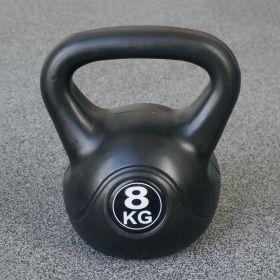 Fitness-Gewicht - 8kg - Schwarz - Kunststoff-Training-Glockengewicht für Hantel-Außenbereich