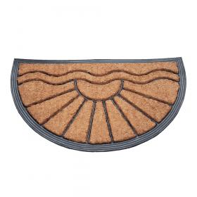 Fußmatte Gummi/Kokos 40x70 cm - halbrund