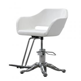 Friseur Stuhl - Weiß - höhenverstellbar – modernes Design