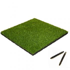 Kunstrasen Fliesen - 50x50 cm - Stecksystem - 55mm dick