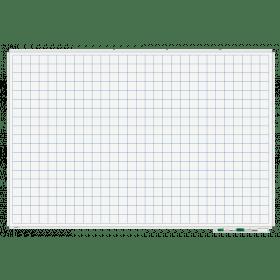 Whiteboard mit Karo 5x5cm - magnetisch - 100x150 cm