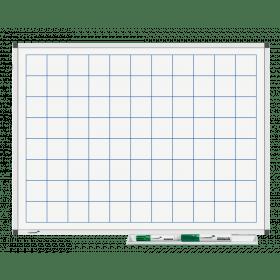 Whiteboard mit Karo 5x5cm - magnetisch - 45x60cm
