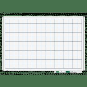 Whiteboard mit Karo 5x5cm - magnetisch - 60x90cm