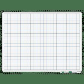 Whiteboard mit Karo 5x5cm - magnetisch - 90x120 cm
