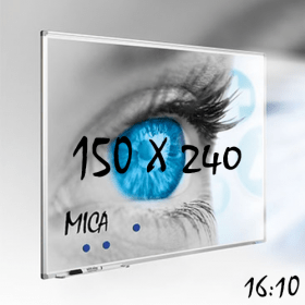 """Whiteboard """"MICA"""" für Projektion mit Beamer - 150x240 cm - 16:10"""