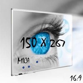 """Whiteboard """"MICA"""" für Projektion mit Beamer - 150x267 cm - 16:9"""