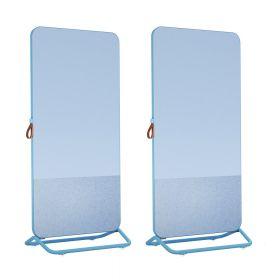 Chameleon Mobile doppelseitiges Whiteboard mit Pinnwand - 89 x 192 cm - Blau