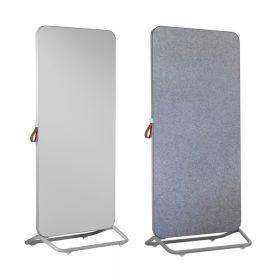 Chameleon Mobile doppelseitiges Whiteboard/Pinnwand - 89 x 192 cm - Grau