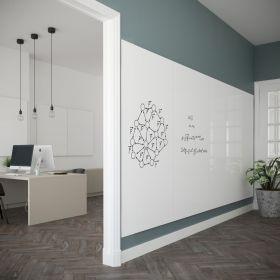 """Schöner arbeiten: Whiteboard Paneele """"Chameleon""""  - rahmenlos - 98x198 cm - erweiterbar"""