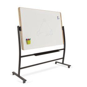Rocada Natural Whiteboard mit Rollen-magnetisch-schwenkbar-100x150cm