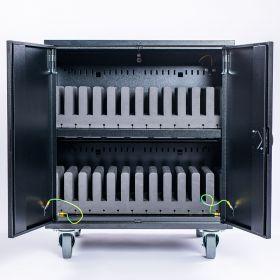 Tablet-Ladewagen Flex 2.0 Soft - 24 Geräte - Gepolsterter Tabletwagen für 24 Tablets & Chromebooks bis 13,3 Zoll