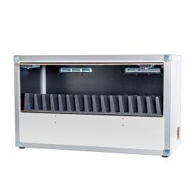 Leba - Tablet/Chromebook Organizer - 16 Fächer - Profi-Lade-Koffer für 16 Geräte