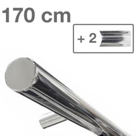 Design-Edelstahl-Geländer - Poliert - 170 cm - 2 Halter