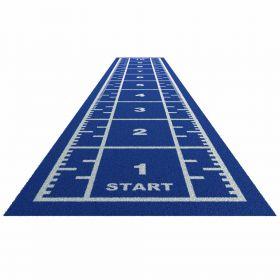 Sprinttrack Premium - Blau - 10 x 2 m -  Sprintbahn aus Kunstgras für Fitness & Sport