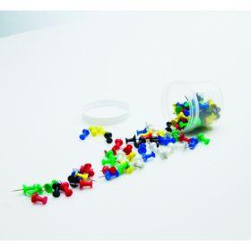 Pinnwand Nadeln - farblich sortiert - 100 Stück