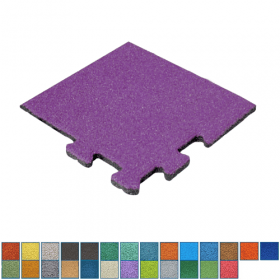 EPDM-Fallschutzmatte - Puzzle-System - Eckstück - 50x50cm - 50mm - UV-fest