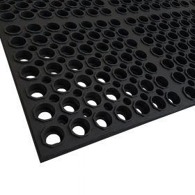 Gummi-Ringmatte - Extra-Schwerlast - 100 x 150 cm - 23 mm - Verstärkte Alljahres-Lochmatte