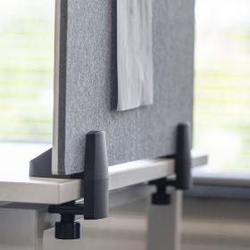 """Schreibtisch-Trennwand - 58x75cm - Pinnwand/Whiteboard """"2 in 1"""" - Klemmbar - Einzeltisch - Zum Klemmen"""