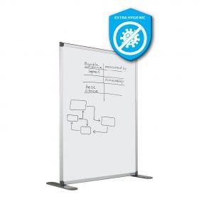 Whiteboard-Trennwand aus hygienischer Emaille - antibakterielle Oberfläche - 140x120 cm