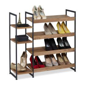 Schuhregal aus Holz & Stahl - für 15 Paar Schuhe