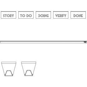 Scrum-Set für UIL Scrum Whiteboard - Studio VIX - 8-teilig