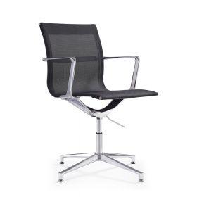 Design-Besucherstuhl Monaco - Schwarz - Luxus für Lounge & Wartezimmer