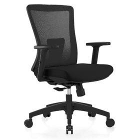 Ergonomischer Bürostuhl Ancona - Schwarz - Rückenfreundlich & günstig