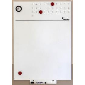 """Whiteboard """"Slim"""" Eco – ohne Rahmen – magnetisch - versteckte Aufhängung – 75x115 cm"""