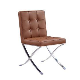 Esstisch Stuhl Barcelona - modernes Design in Cognac - auch für Bar & Lounge